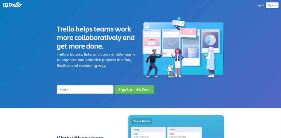 Trello Free Project management tool
