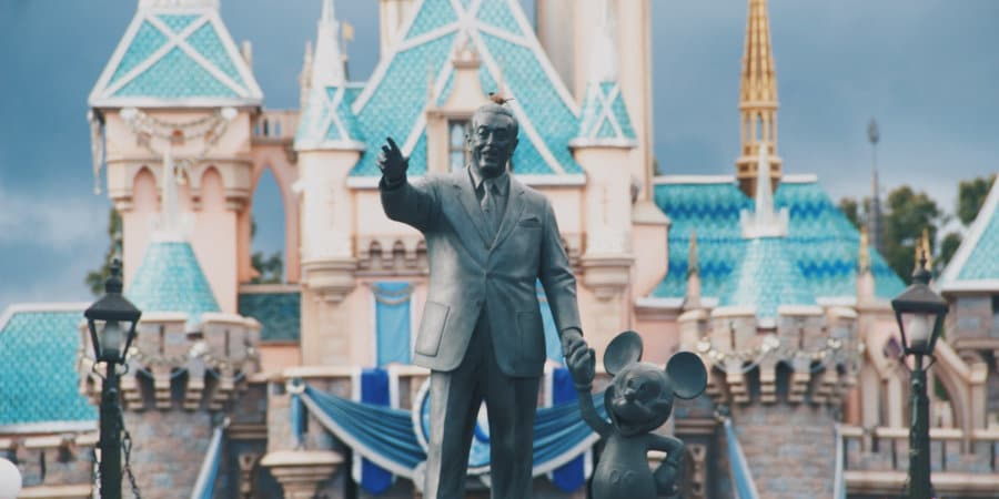 Walt Disney and Micky Mouse statue